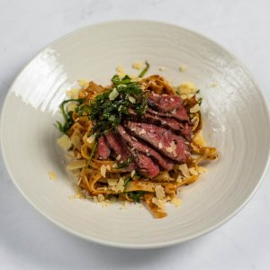 Fresh Tagliatelle with Beef