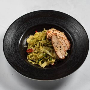 Fresh Tagliatelle with Chicken